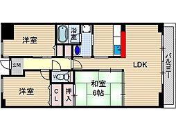 Lui Chance 1[6階]の間取り