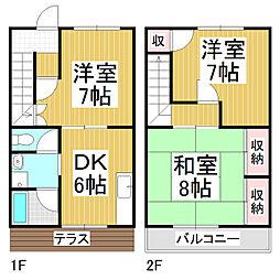 [テラスハウス] 長野県塩尻市大字広丘高出 の賃貸【/】の間取り