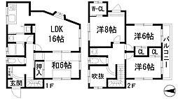 [一戸建] 兵庫県宝塚市小林3丁目 の賃貸【/】の間取り