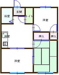 メロディーハイム[2階]の間取り
