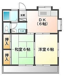 千葉県船橋市田喜野井3丁目の賃貸アパートの間取り