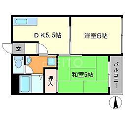 アルス21[3階]の間取り
