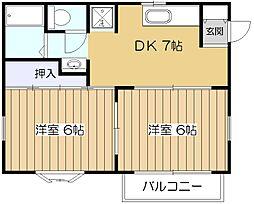 リーベンハウスII[1階]の間取り