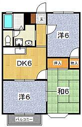 星第3アパート[312号室号室]の間取り