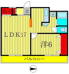 中台第2ビル[302号室]の間取り