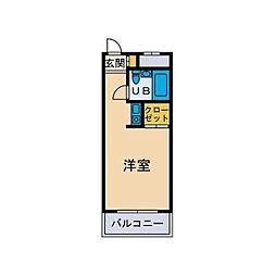 カネコサンエーハイツ[3階]の間取り