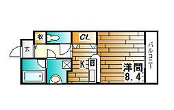 クラスト30[3階]の間取り