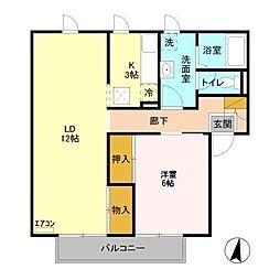メゾン志藤[1階]の間取り