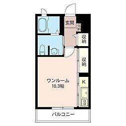 aile KOMAZAKI[1階]の間取り