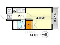 ニューチヨダマンション[2階]の間取り