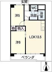 ハイツ小幡[4階]の間取り