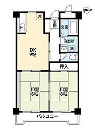 シャレード藤島[2階]の間取り