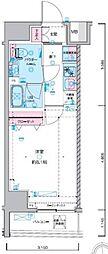 JR総武線 浅草橋駅 徒歩5分の賃貸マンション 3階1Kの間取り