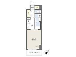 川崎区堀之内町計画 4階1Kの間取り