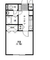 AXISマンション[1階]の間取り