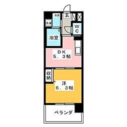 岡山県岡山市北区野田5の賃貸マンションの間取り
