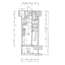 福岡市地下鉄七隈線 渡辺通駅 徒歩6分の賃貸マンション 13階1DKの間取り