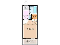 三重県四日市市九の城町の賃貸アパートの間取り