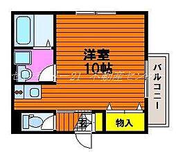 岡山県岡山市北区西崎2丁目の賃貸アパートの間取り