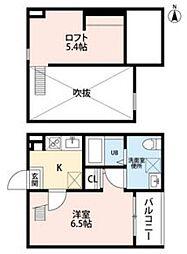 partenza 志賀本通[2階]の間取り