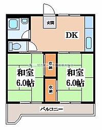 マンション芝園[4階]の間取り