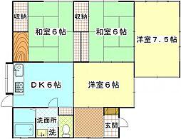 [一戸建] 神奈川県横須賀市追浜東町2丁目 の賃貸【神奈川県 / 横須賀市】の間取り
