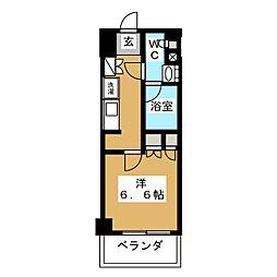 パークアクシス横濱大通り公園 7階1Kの間取り