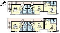 ユナイト 川崎モンマルトルの広場[1階]の間取り