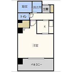 福岡県福岡市中央区桜坂1の賃貸マンションの間取り