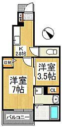 アーバンリーム壱番館[1階]の間取り