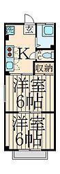 中野セントラルマンション[1階]の間取り