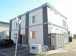 北海道江別市元江別本町の賃貸アパートの外観