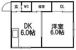 サンホームマンション美奈川[301号室]の間取り