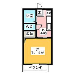 フロンティア神沢D棟[2階]の間取り