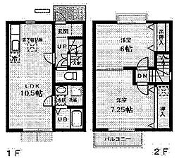 ARCADIA A棟[105号室]の間取り