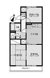 キャッスルアマノ[1階]の間取り