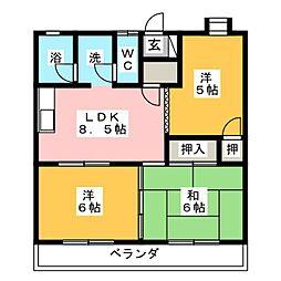 マンションマエダ[3階]の間取り