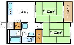 コーポ塚本[2階]の間取り