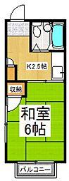 佐野コーポ[2階]の間取り