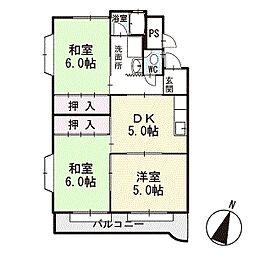 マンション光 2階[D2号室]の間取り
