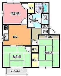 シャルムメゾン A棟[2階]の間取り