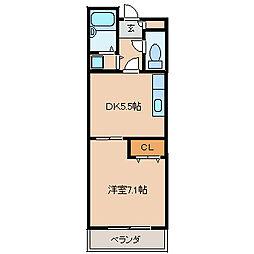 モンシェリ[304号室]の間取り