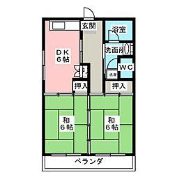 小田原ハイツ[5階]の間取り