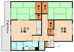 ホワイトリバー2[4階]の間取り