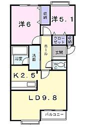 北海道札幌市西区発寒六条7丁目の賃貸マンションの間取り