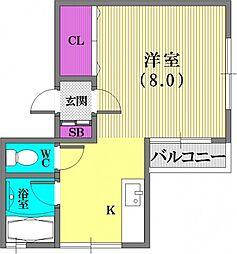 メゾン平野[2階]の間取り