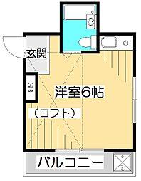 西国分寺サンハウスIII[1階]の間取り