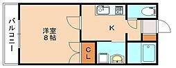 メゾンドピュア[2階]の間取り