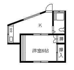 KTKハイツ[201号室]の間取り