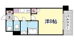 プロシード兵庫駅前通[1203号室]の間取り